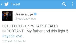 Jessica Eye Tweet