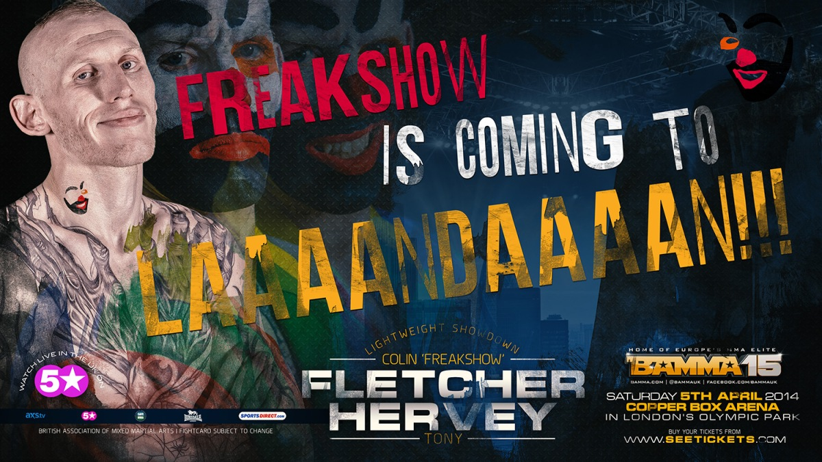 COLIN 'FREAKSHOW' FLETCHER  VS TONY 'LIONHEART' HERVEY BAMMA15