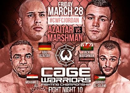 JACK MARSHMAN HEADLINES CWFC FIGHT NIGHT 10 IN AMMAN MARCH 28TH