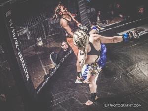 Lea Fendt KO's Zowie Trevena via Head Kick   (c) NJPhotography.com