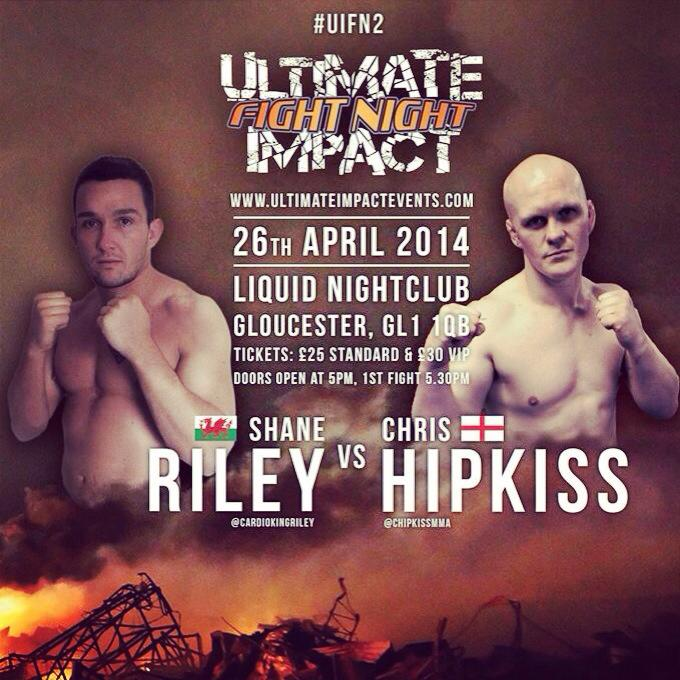 ULTIMATE IMPACT FIGHT NIGHT 2 FULL FIGHT CARD APRIL 26TH GLOUCESTER
