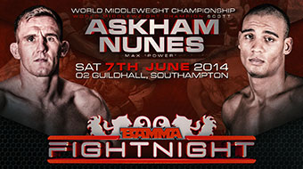 BAMMA 'FIGHT NIGHT 1' – RESULTS
