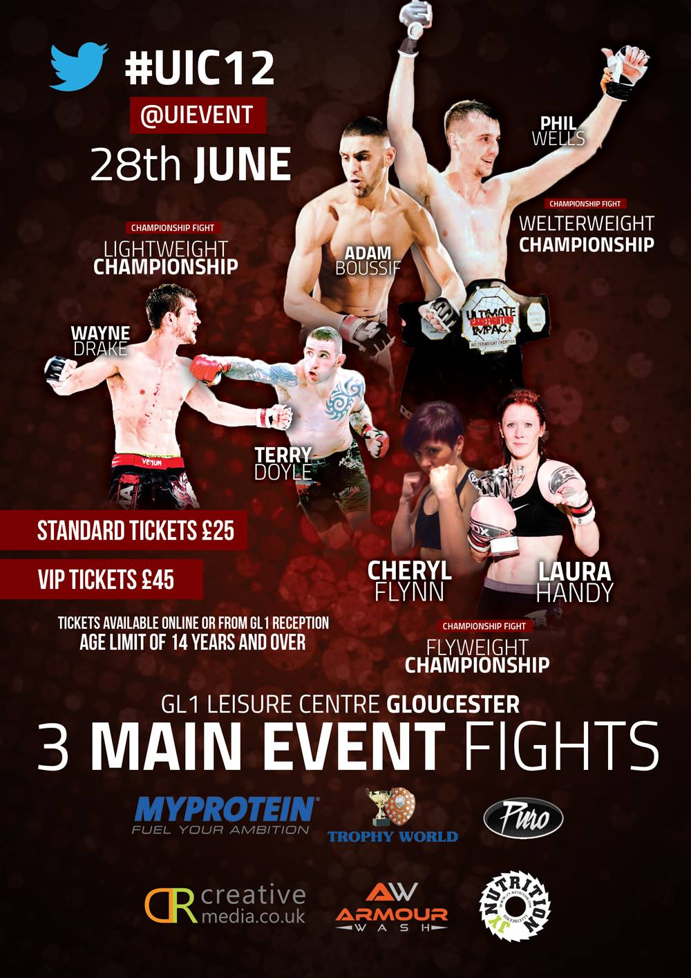 ULTIMATE IMPACT 12 FIGHT CARD DETAILS