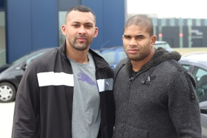 Chi Lewis-Parry and Alistair Overeem