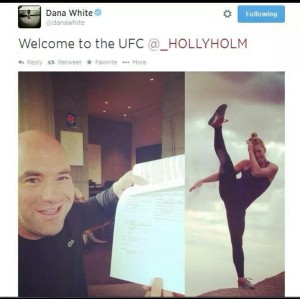 Welcome to the UFC Holly Holm