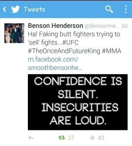 Henderson first tweet