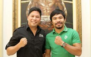 Victor Cui [CEO of OneFC] and Manny Pacquiao