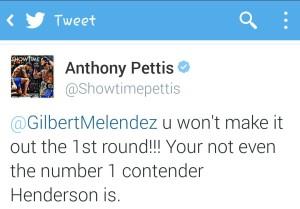 Pettis tweet