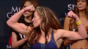 Miesha Tate weigh in UFC 183