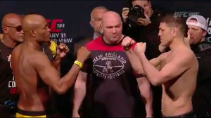 Nick Diaz vs Anderson Silva Face Off UFC 183