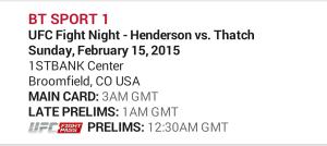 UFC Fight Night 60 Henderson Vs Thatch