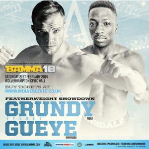 Mike Grundy Vs Mamadou Gueye  BMW 18