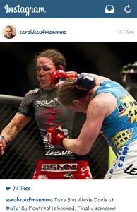 Sarah Kaufman Instagram Fight announcement