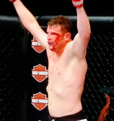 Chas Skelly celebrating Win UFC Broomfield