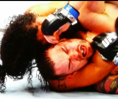 Benson Henderson with the RNC on Brandon Thatch UFC Broomfield