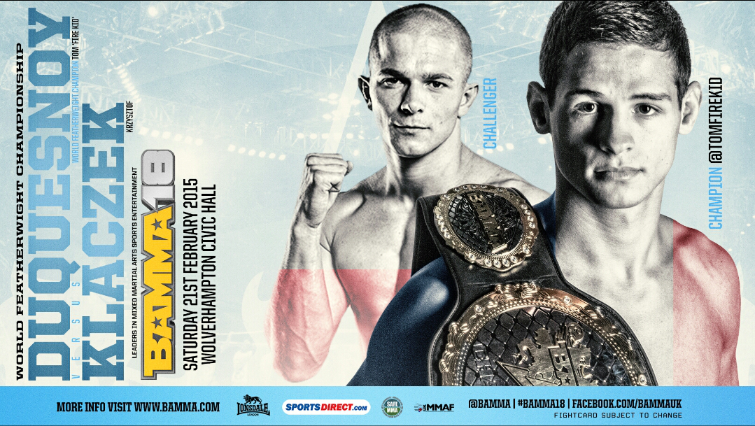 BAMMA 18 Full Results: Duquesnoy Vs Klaczek