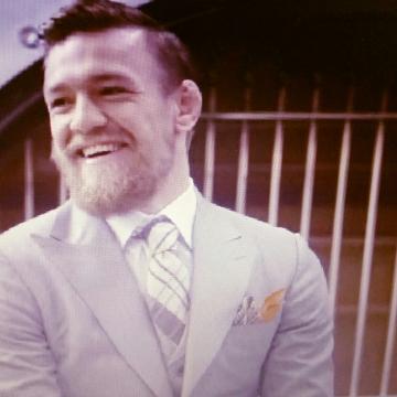 A very Happy Conor McGregor UFC 189 World Championship Tour