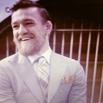 A very Happy Conor McGregor UFC 189 World Championship Tour