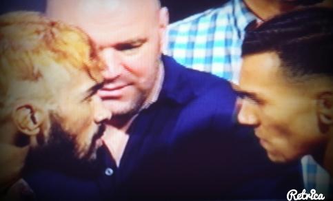 Godofredo  Pepey vs. Andre Fili Face Off UFC RIO