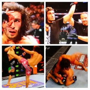 Elias Theodorous photo montage; WIN UFC 185