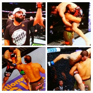 Johny Hendricks photo montage; Win UFC 185