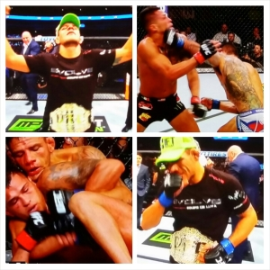 Rafael Dos Anjos photo montage; #NEW #Lightweight #Champion