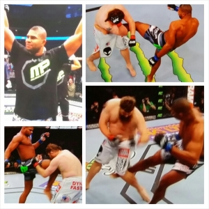 Alistair Overeem photo montage; WIN UFC 185