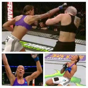 Germaine de Randamie photo montage; WIN UFC 185