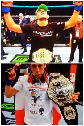 New Champions Rafael dos Anjos and Joanna Jedrzejczyk UFC 185