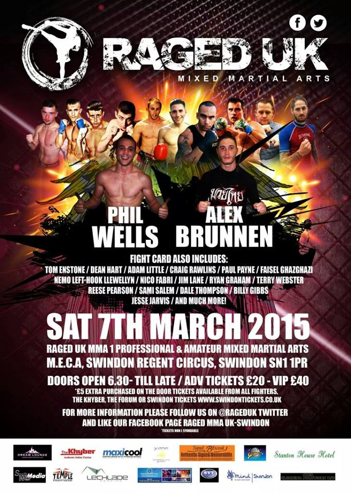 RAGED UK MMA coming to Swindon March7th