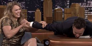 Ronda Rousey Armbar on Jimmy Fallon