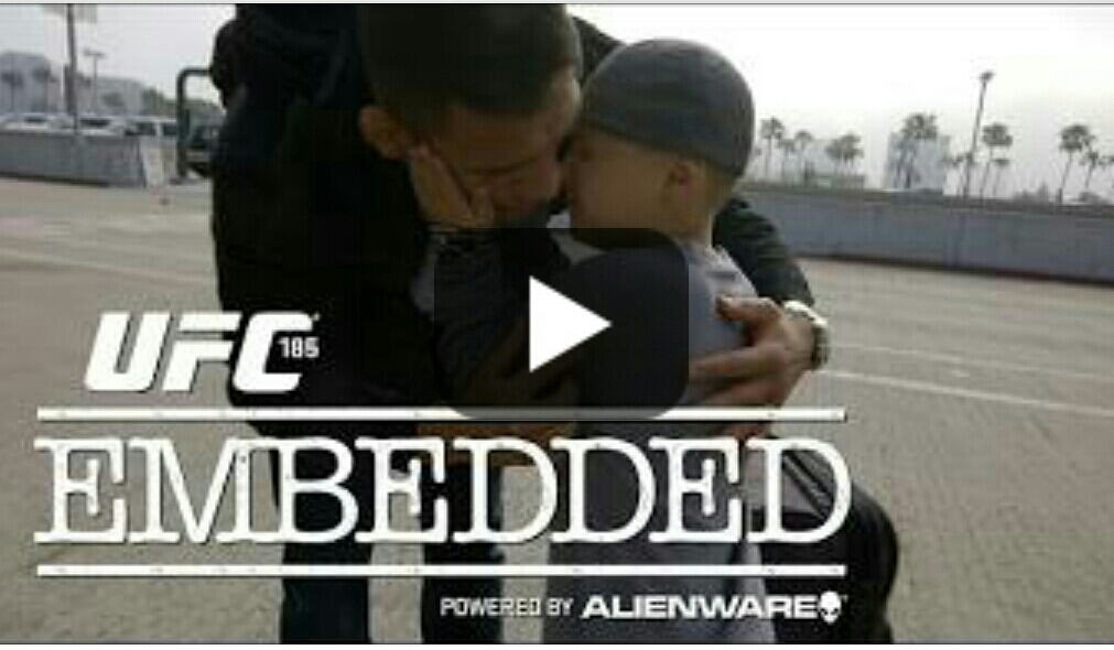 UFC 185 Embedded: Ep. 2 – Weight cutting, family goodbyes and final training sessions in 'borrowed' kit!