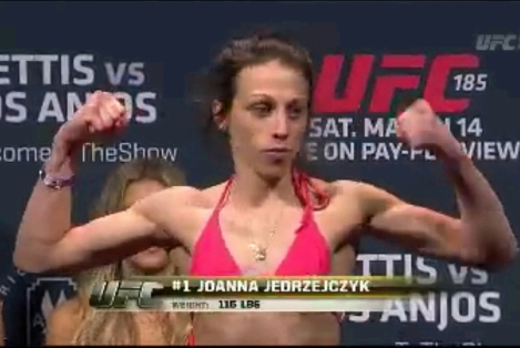 Joanna Jedrzejczyk Weigh In UFC 185