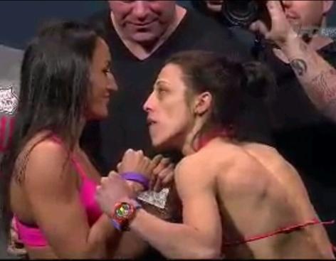 Carla Esparza vs Joanna Jedrzejczyk Face Off UFC 185