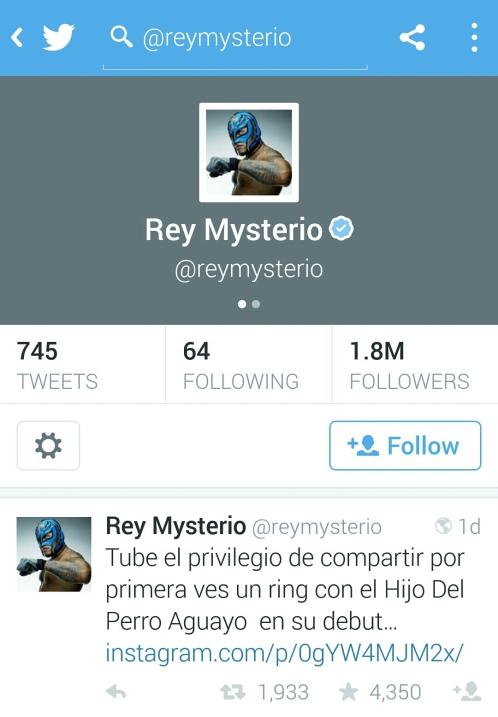 Rey Mysterio Tweet