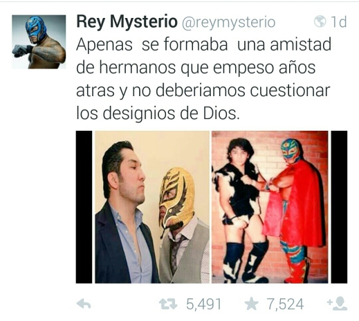 Rey Mysterious recent Tweet
