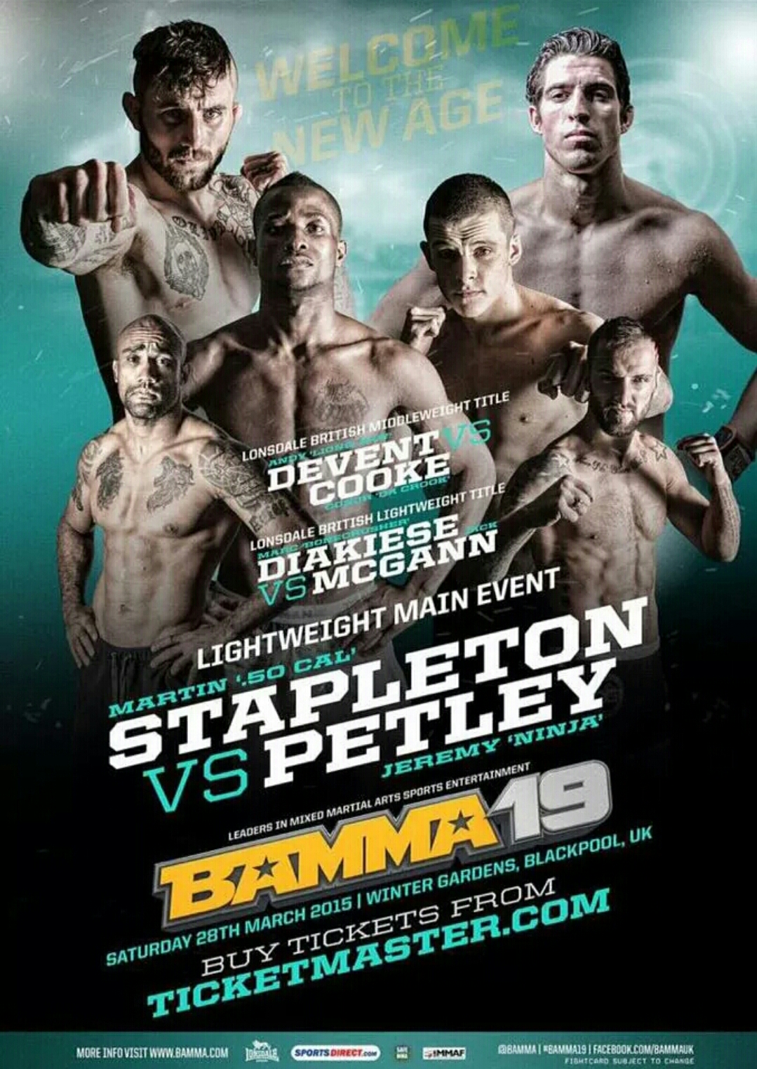 BAMMA 19 RESULTS -Diakiese and DeVent both win Lonsdale British Belts!