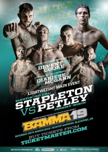 BAMMA 19 Event Poster