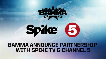 BAMMA announce partnership with SPIKE TV coming to Ch 5 April 15th