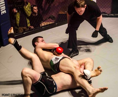 Tom Enstone SUBMITTING Jim Lane Via ARMBAR  (c) Point 5 Photography