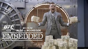 UFC 189 World Championship Tour Embedded: Ep 7 'These are not lines, I am saying what I am going to do to him [Aldo]' Conor McGregor