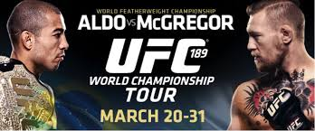 UFC 189 World Championship Tour Event Poster