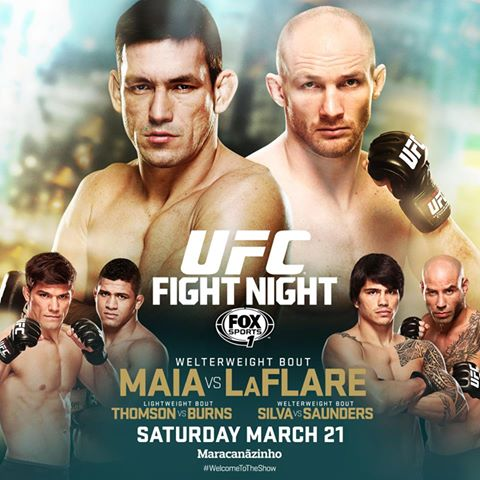 UFC Fight Night Rio De Janerio – Maia vs LaFlare Weigh In Results