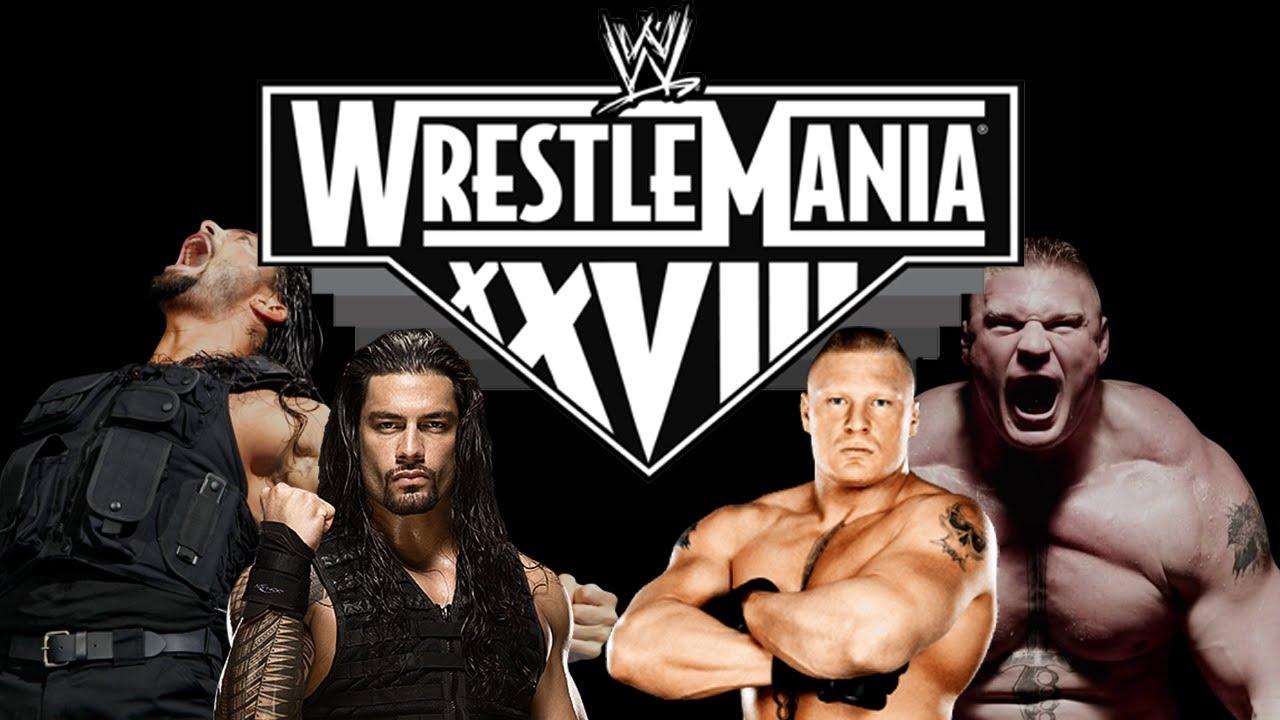 WrestleMania Brock Lesnar Vs Roman Reigns