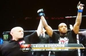 Leon Edwards Winning  UFC Fight Night  Krakow