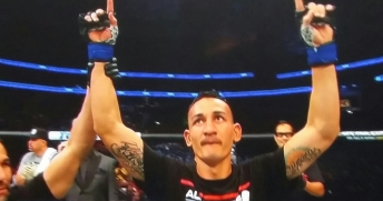 Max Holloway Winning UFC Fight Night New Jersey