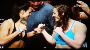 Sarah Kaufman vs. Alexis Davis Face Off UFC 186