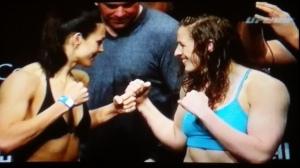 Sarah Kaufman vs. Alexis Davis Face Off UFC 186