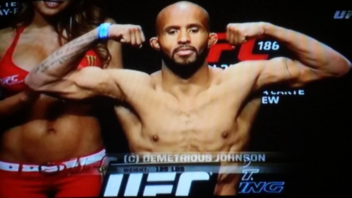 UFC 186 Weigh-In Results: Demetrious Johnson (124.5 lbs) vs. Kyoji Horiguchi (124.5lbs)