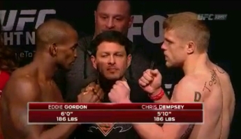 Eddie Gordon Vs. Chris Dempesy UFC Fight Night New Jersey Face Off